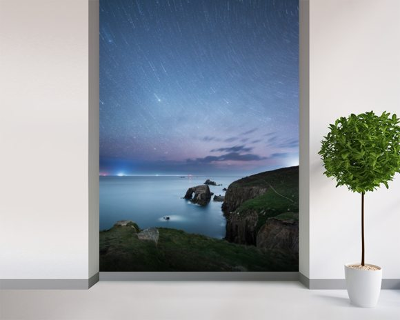Lands End wall mural room setting