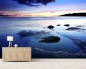 Lyme Bay Tides mural wallpaper living room preview
