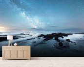 Reflections of Night mural wallpaper living room preview