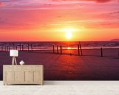 Somerset Sunset wallpaper mural living room preview