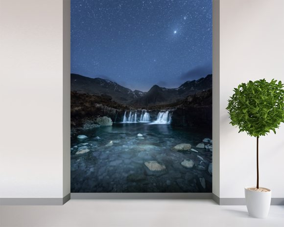 The Fairy Pools wall mural room setting