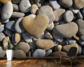Pebble Heart mural wallpaper kitchen preview