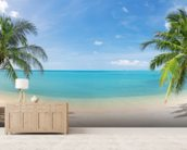 Tropical Beach Panoramic wall mural living room preview