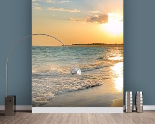 Exceptional Tranquil Beach Sunset Wallpaper Mural Part 21