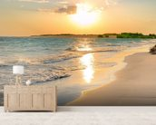 Tranquil Beach Sunset wallpaper mural living room preview