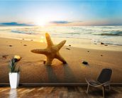 Sunset Starfish wall mural kitchen preview