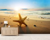 Sunset Starfish wall mural living room preview