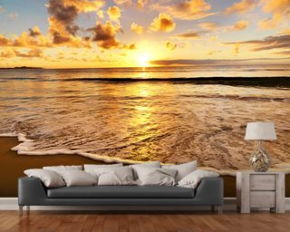 Beach Sunset Wall Mural Part 57