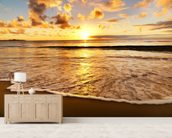 Beach Sunset wallpaper mural living room preview