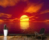 Red Sunset mural wallpaper kitchen preview