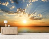 Coastal Sunset wallpaper mural living room preview