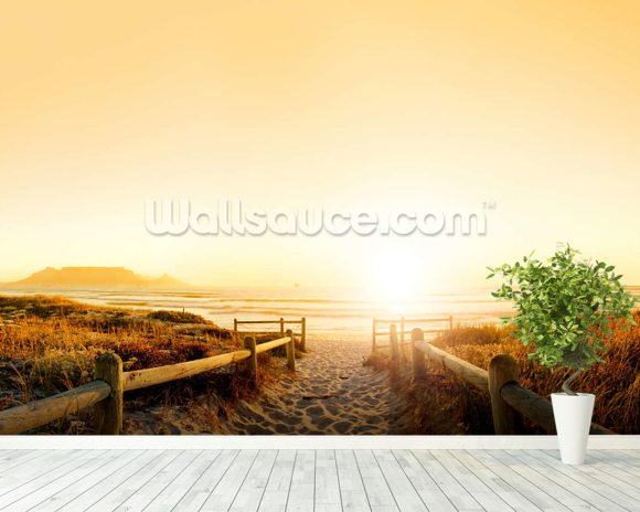 Sand Dune Sunset wall mural room setting