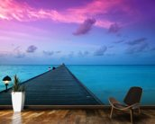 Sunset in the Maldives wall mural kitchen preview