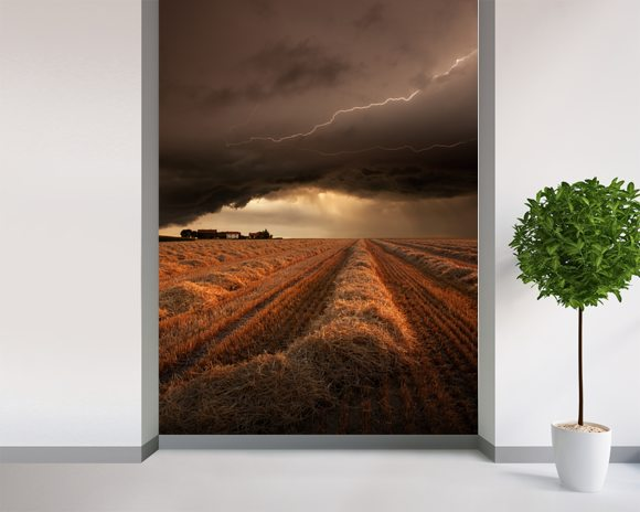 Dark clouds wall mural dark clouds wallpaper wallsauce usa for Clouds wall mural