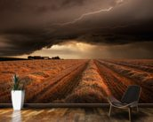 Dark Clouds mural wallpaper kitchen preview