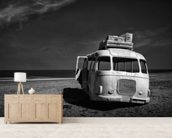 Beached Bus wallpaper mural living room preview