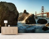 The Golden Gate Bridge wall mural living room preview