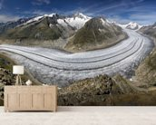 Aletschgletscher wall mural living room preview