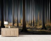 Mystic Wood mural wallpaper living room preview
