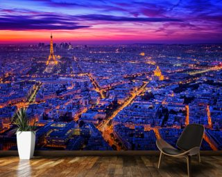 Paris Blues mural wallpaper