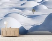 Standing in the Waves wall mural living room preview
