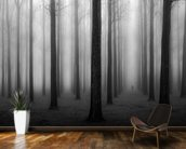 In a Fog mural wallpaper kitchen preview