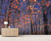 Autumn Leaves Fall wall mural living room preview