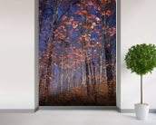 Autumn Leaves Fall wall mural in-room view