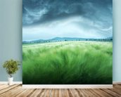 Barley Field mural wallpaper in-room view