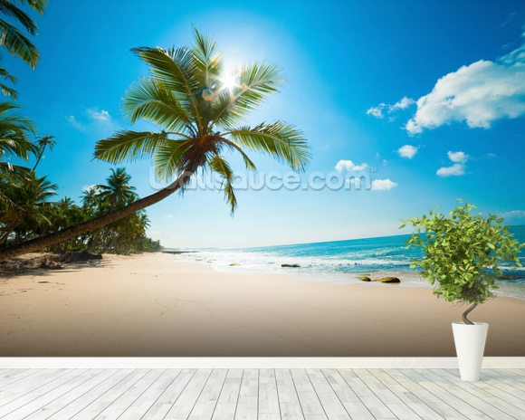 Tropical Beach Wall Mural Room Setting