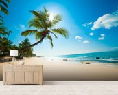 Tropical Beach wall mural living room preview