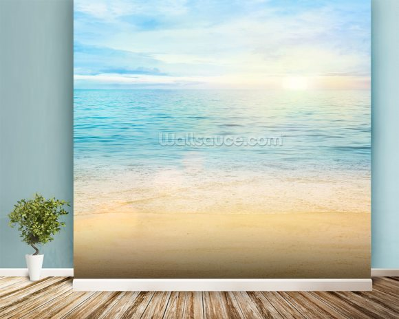 Sea and Sand Tranquility wall mural room setting