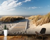 Windswept Beach Boardwalk wall mural kitchen preview