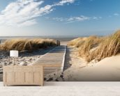 Windswept Beach Boardwalk wall mural living room preview