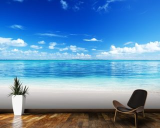 Ocean Wall Mural beach wallpaper & wall murals | wallsauce usa