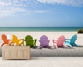 Summer Vacation Beach mural wallpaper living room preview