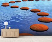 Stepping stones mural wallpaper living room preview