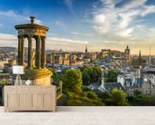 Edinburgh Castle from Calton Hill wall mural living room preview