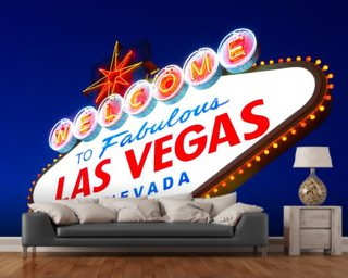 Las Vegas Sign Wallpaper Mural Wall Murals Wallpaper
