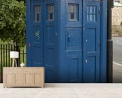 Tardis Police Box mural wallpaper living room preview