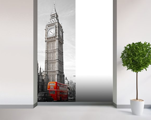 Big Ben and Houses of Parliament wallpaper mural room setting