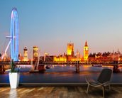 London Eye Panorama mural wallpaper kitchen preview