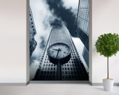 Canary Wharf Clock wall mural in-room view