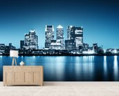 Canary Wharf from Greenwich. wall mural living room preview