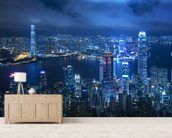 Hong Kong Victoria Harbour mural wallpaper living room preview