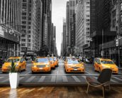New York Yellow Taxis wallpaper mural kitchen preview