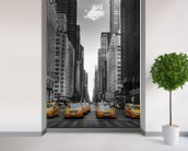 New York Yellow Taxis wallpaper mural in-room view