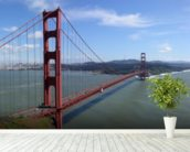 San Francisco Bay wall mural in-room view