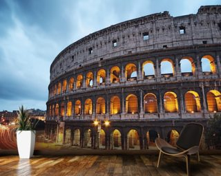 Coliseum at Night wallpaper mural
