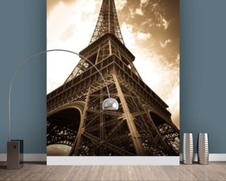 Eiffel Tower mural wallpaper